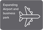 Expanding airport and business park