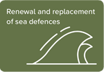 Renewal and replacement of sea defences