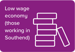 Low wage economy (those working in Southend)
