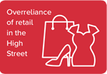 Overreliance of retail in the high street