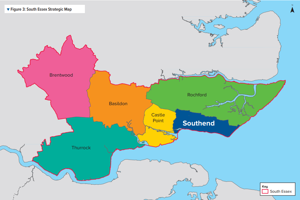 Figure 3: South Essex Strategic Map
